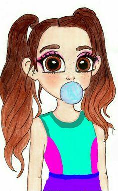 Nada de perfectas verde água!!! Bff Drawings, Pretty Drawings, Cute Kawaii Drawings, Art Drawings Sketches, Disney Drawings, Cute Girl Drawing, Cartoon Girl Drawing, Pony Drawing, Cartoon Girl Images
