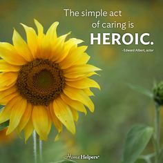 """""""The simple act of caring is heroic.""""   Caregiver quotes"""