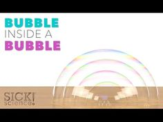 Bubble Inside a Bubble - Sick Science! #219 - YouTube Easy Science Experiments, Science Toys, Science Videos, Science Party, Weird Science, Preschool Science, Science Projects, Science Activities, Teaching Science