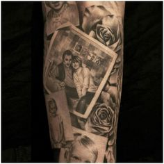gray and black 3d portrait tattoo                                                                                                                                                                                 More