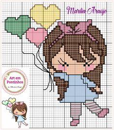 Cross Stitch Family, Cross Stitch For Kids, Cross Stitch Love, Cross Stitch Cards, Cross Stitch Alphabet, Cross Stitch Designs, Cross Stitching, Cross Stitch Patterns, Stitch Doll
