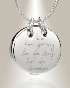 Wisdom Memorial Jewelry and round memorial pendants at low prices to ship right away.