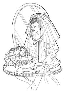 BARBIE COLORING PAGES BRIDE AND SUPERSTAR