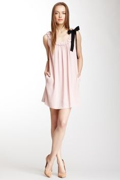 RED Valentino Gathered Ribbon Tie Dress, isn't this really just a glorified pillowcase dress for an adult???