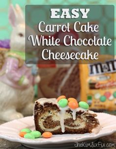 Combine your love of Carrot cake and cheesecake frosting into one delicious white chocolate cheesecake swirled carrot cake. Easy to make using a boxed mix.. and so good!