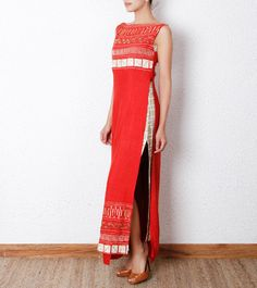 #Red Embellished #Dress #Set by #Debarun at #Indianroots Was $290 | Is $236