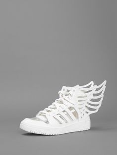 save off 1f62d 6114d ADIDAS BY JEREMY 2.0 CUT OUT WING HIGH TOP SNEAKER White High Top Sneakers,  Best
