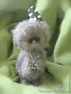 Купить Обезьянка Джонни - коричневый, обезьянка, подарок на любой случай, мохер для мишек Тедди, шплинты
