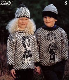 Barne in warm sweaters (Norwegian) Sandnes garn Norwegian Style, Norwegian Knitting, Baby Barn, Kids Patterns, Yarn Shop, Warm Sweaters, Old Models, Knitting For Kids, Vintage Knitting