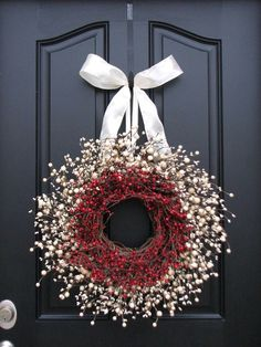 Winter Wreath Inspiration Board - One Good Thing by Jillee ~ beautiful! this is for inspiration only! Valentine Day Wreaths, Holiday Wreaths, Holiday Crafts, Holiday Decor, Winter Wreaths, Valentines, Spring Wreaths, Summer Wreath, Noel Christmas