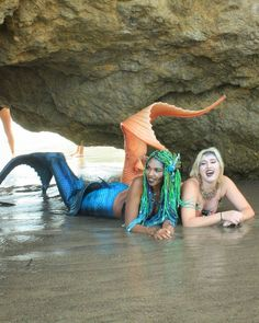 "Mermaid Oriel & Quintessence on Instagram: ""Mers will be Mers!! This was our absolute favorite shot from our shoot last week. Happy one week anniversary to our beautiful tails!!…"" • Instagram"