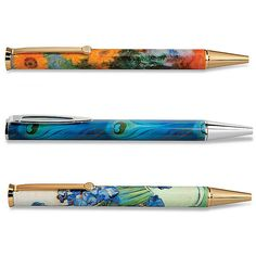 Improvements Metropolitan Museum of Art Pen Collection - Tiffany... (75 DKK) ❤ liked on Polyvore featuring home, home decor, office accessories, roller ball pen, refillable pen, refillable rollerball pen, refillable ballpoint pen and ball pen