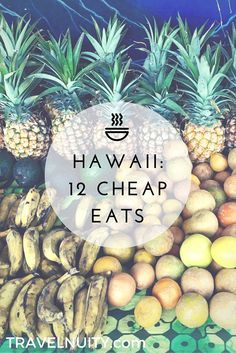 12 Cheap Eats in Hawaii 12 of the best cheap eats that you should try in Hawaii, starting with the delicious tropical fruit at roadside stalls! Want to have your travel paid for and know someone looking to hire top tech talent? Hawaii 2017, Visit Hawaii, Maui Hawaii, North Shore Hawaii, Hawaii Hikes, Hawaii Honeymoon, Maui Vacation, Vacation Ideas, Spring Vacation