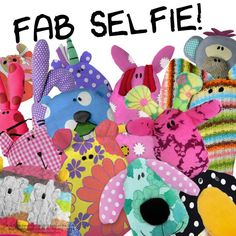 FAB Selfie! Fabric Animals, Recycled Fabric, Recycling, Kids Rugs, Selfie, Classic, Character, Home Decor, Derby