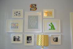 Nice way to display nursery art!