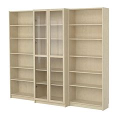 """BILLY bookcase, middle section 15"""" deep (big enough for scrapbooks) with glass doors. $358.98"""