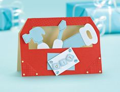 This toolbox card is perfect for Father's Day. Visit the website to download the free template!