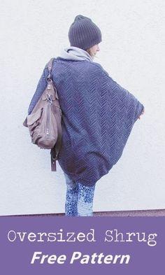 pulsinchen: oversized shrug free pattern