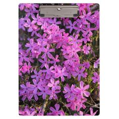 Pretty Purple Flowers Clipboard