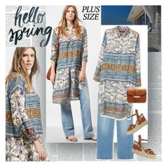 Hallo Spring Plus Size by stylepersonal on Polyvore featuring polyvore, fashion, style, Violeta by Mango, clothing and springdate