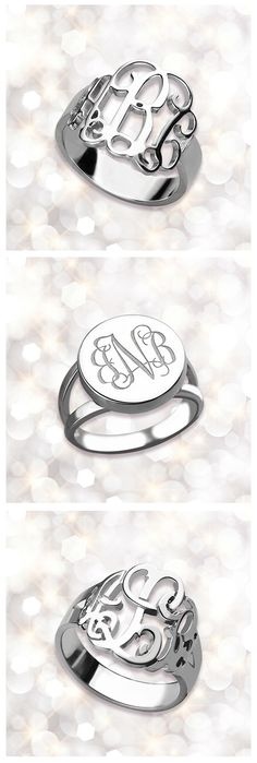 Are you still fantasizing about that gorgeous accessories personalized jewelry? These sterling silver monogram ring must be new collection which can't miss out! Best gift for her or yourself. ORDER NOW,SAVE UP TO 40%. Come and discover more at Getnamenecklace.com