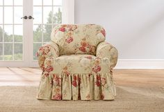 Sure Fit Slipcovers Ballad Bouquet by WaverlyTM One Piece T-cushion Slipcovers - Chair