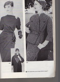 Vogue 1394 by Grès and Vogue 1393 by Jean Dessès in 1957