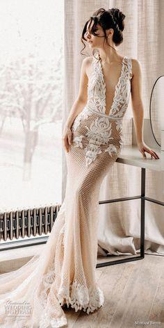 miriams bride 2018 bridal sleeveless deep v neck heavily embellished bodice romantic fit and flare wedding dress open back chapel train (10) mv -- Miriams Bride 2018 Wedding Dresses