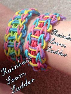 Rainbow Loom Ladder #jewelry #bracelet #kids #children
