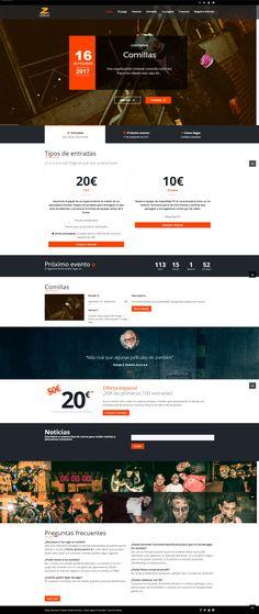 Página web en WordPress para empresa de eventos de temática zombie