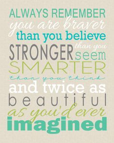 "Free Printable Friday ""You Are Braver"" Subway Art - Project Inspire"