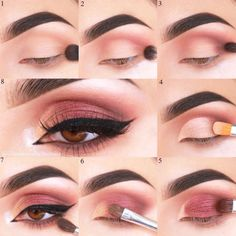 30 Sexy Makeup Looks For Brown Eyes Brown Eye Makeup Tutorial Brown eyes are so beautiful. Find out how to enhance your dark eyes with pretty make-up. Brown Eye Makeup Tutorial, Makeup Pictorial, Makeup Tutorial Eyeliner, Smokey Eyes, Smokey Eye Makeup, Eyeshadow Makeup, Simple Makeup Tips, Eye Makeup Tips, Makeup Ideas