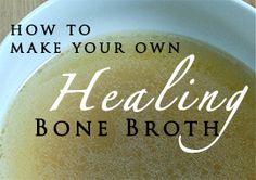 Making Bone Broth at Home : sweet beet and green bean
