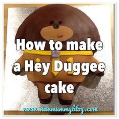 How to make a Hey Duggee Cake (Duggee from the popular Cbeebies TV show) How to make this easy birthday cake for a toddler's birthday 2nd Birthday Cake Boy, Toddler Birthday Cakes, Harry Birthday, Leo Birthday, 2nd Birthday Parties, Birthday Ideas, Cbeebies Cake, New Mummy, Cake Templates