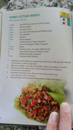 21 day fix turkey lettuce wraps
