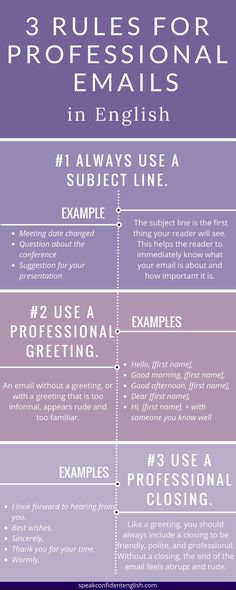 7 Rules for Professional Emails in English – Business English Skills 7 Rules for Professional Emails in English – Business English Skills,English Learn Do you often write emails in English for work? English Writing, English Words, English Grammar, Teaching English, English Language, English Tips, English Lessons, Learn English, English English
