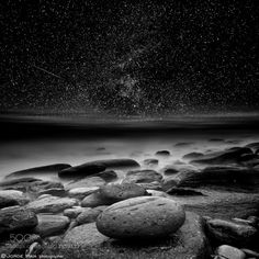 The cosmos by Jorge_Maia  beach black and white bw clouds coast…