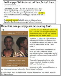 Everything wrong with the American legal system in two articles.