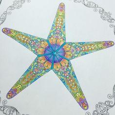 """Start! #johannabasford #lostocean #starfish #jardimsecreto #jardimsecretoinspire #coloringbook"""
