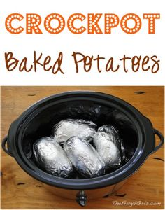 Crockpot Baked Potatoes! {so easy!!} ~ from TheFrugalGirls.com ~ you'll love this simple little Slow Cooker trick for delicious potatoes with hardly any effort!