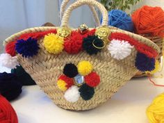 Mini coffa tradizionale Sicilian, Straw Bag, Diy Ideas, Basket, Mini, Home, Craft Ideas, Hamper
