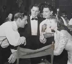 Errol Flynn and Ida Lupino, not sure of the dudes in the center \\\ Errol's Most Beautiful Dates & Girlfriends « The Errol Flynn Blog