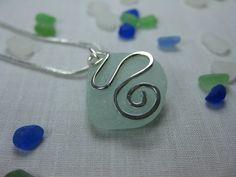 Pale Aqua Coastal Sea Glass Jewellery by SeaglassWithATwist