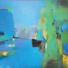 "Blues For Mr. Green by Judith Berlinger Oil ~ 24"" x 24"""