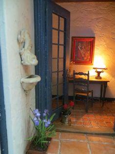 Dollhouse Miniature Artisan Signed Nora Jane Gardeners Porch Roombox Furnished | eBay
