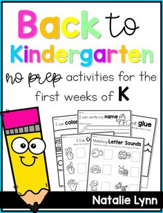 Make back to school for kindergarten easy with these no prep printables and activities! These back to school activities are perfect for the first week of kindergarten and best of all they're ready to print and go for you! #kindergarten #backtoschool #firstdayofkindergarten #elementary #primary
