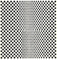 Bridget Riley, Fission, 1963 #black #white #dots