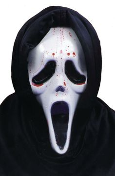 Scream Mask with Blood and Pump - Masks