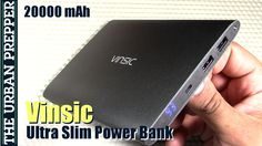 awesome Vinsic 20000mAh Ultra-slim Power Bank by TheUrbanPrepper
