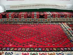 A traditional Bosnian carpet as seen in one of the cultural heritage houses near a town of Mostar. Floor Paint Design, Carpet Design, Republika Srpska, Pagan Symbols, Austro Hungarian, City Aesthetic, Painted Floors, Bosnia And Herzegovina, Persian Carpet